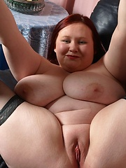 Redhead plumper with double airbags