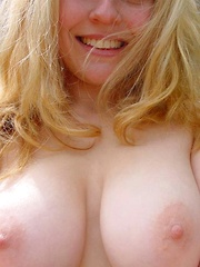 Selection of sexy big-tittied chicks posing for the cam