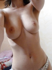 Hot big-tittied girlfriends displaying their fine breasts